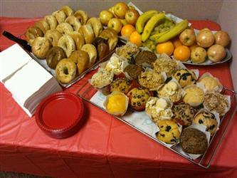 Bagels and Assorted Baked Goods Catering Trays