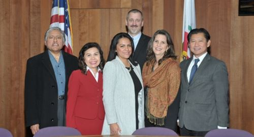 Group Photo - ESUHSD Board of Trustees and Superintendent (6 persons)